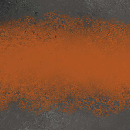 texture: dark black and orange background for fall or halloween designs, has grunge vintage texture with black border