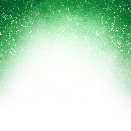 stock photo white and green christmas background with blurred bokeh lights on top border in pretty soft design with blank copyspace