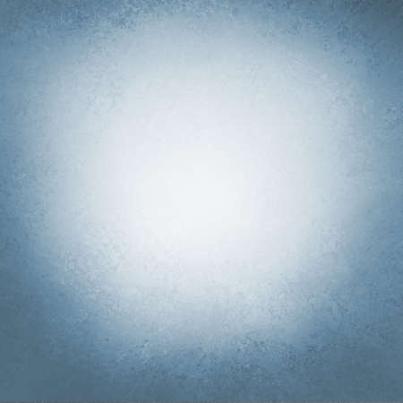 old blue paper background with dark stained grunge borders, light cloudy white center, and vintage grungy texture design