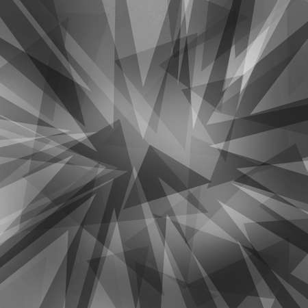 abstract triangle shapes layered in random pattern, black white and gray background, transparent geometric design