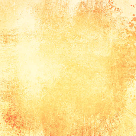 Rustic yellow grunge background with brown gold grungy border and vintage texture design