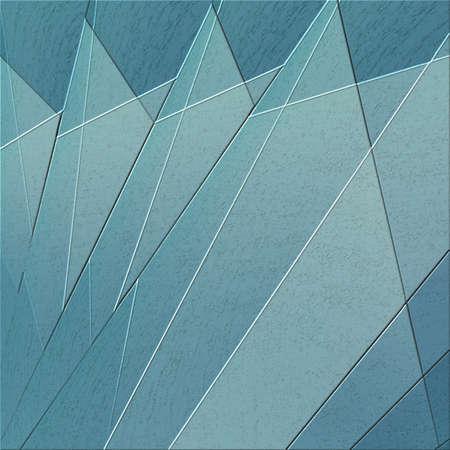 Fond bleu géométrique avec des lignes de levage et des triangles dans le motif de texture Banque d'images - 90155036