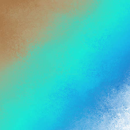 Bold diagonal color streaks on abstract background design in colorful light blue green peach orange and white sponged lines Stock Photo