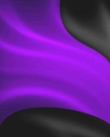 Abstract black purple background design, bright royal purple material draped on dark black color Stok Fotoğraf