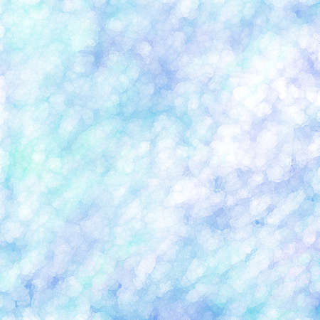 soft pretty blue background with glassy bokeh effect design, mottled blotchy white texture Stock Photo