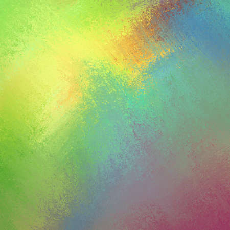 bright cheery colors in colorful background, yellow green blue pink and orange in bold color splash paint design