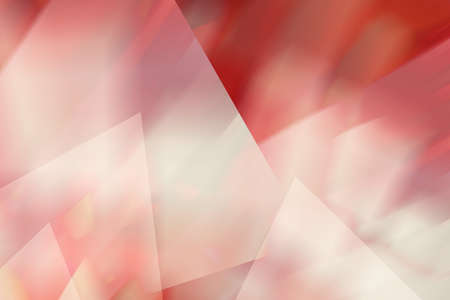 blurred red pink and white abstract background design, pretty triangle shapes are layered in shiny soft blurry colors  Stock Photo