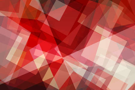 abstract background design with layers of red and white shapes, triangles rectangles squares blocks and polygons in modern trendy style art pattern