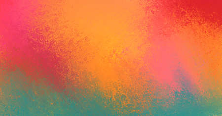 bright background with red gold pink and blue green colors in smeared sponge texture