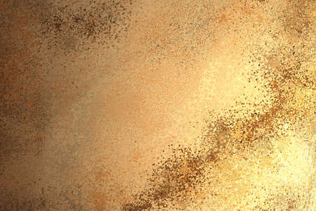 marbled gold stone background illustration with brown and orange streaks, elegant painted wall
