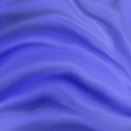 elegant luxury blue background with wavy draped folds of cloth, smooth silk texture with wrinkles and creases in flowing fabric Stock Photo