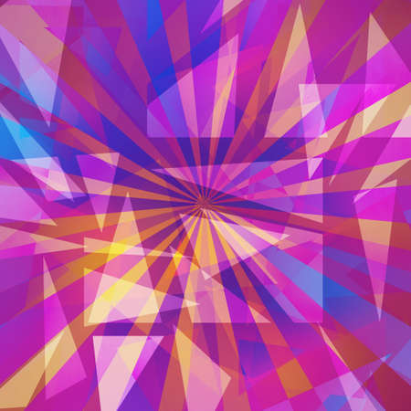 abstract triangle shapes layered in random pattern, burgundy mauve rose and violet colors of pink and purple on white background, transparent geometric triangle background design Stock Photo