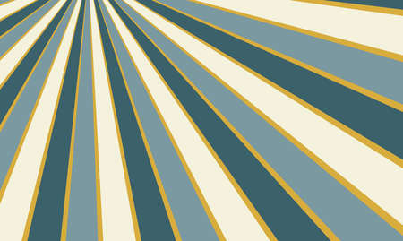 abstract blue white and gold background design with striped light and dark thick blue and white sunburst lines and thin gold accent stripes Standard-Bild - 115034640