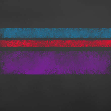 distressed stripes of red blue and purple on black background with old grunge texture Standard-Bild - 113497563