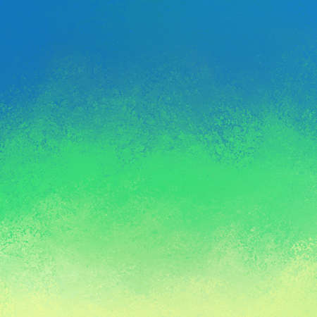 abstract blue green and yellow background with grunge paint texture in large stripes Standard-Bild - 113497566