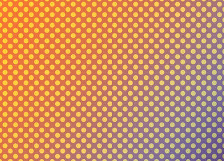 orange and purple abstract background with yellow circles, colorful vibrant polka dot pattern design Standard-Bild - 114142360
