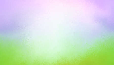 vibrant green and purple blue gradient color background with white center blur and soft grunge texture Standard-Bild - 114142368
