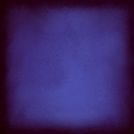 deep blue abstract background design with textured wall paint and dark black thick vignette border Standard-Bild - 115498668