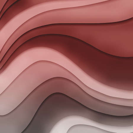 pink gray and red colors in layered flowing waves concept in abstract striped pattern, red background in a curvy material design Standard-Bild - 115498679