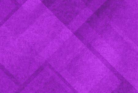 abstract purple background with white angled shape pattern stripes  and blocks design in diagonal lines with distressed texture Standard-Bild - 115498681
