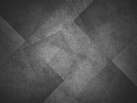 abstract black background, layers of intersecting angles, rectangles and squares floating in random pattern, transparent with intricate texture Standard-Bild - 115498687