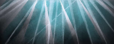 abstract modern design in teal blue green and white triangles shapes and stripes on black and gray background with texture Standard-Bild - 115498694