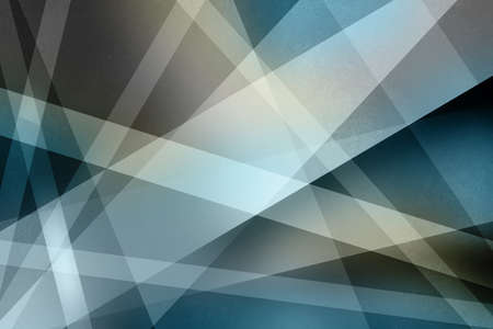 abstract background design with layers and stripes in diagonal intersecting line design in blue and white with black shadows Standard-Bild - 115498703