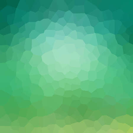 abstract blue green background design with mosaic low poly style shapes with shiny glassy texture Standard-Bild - 116801091