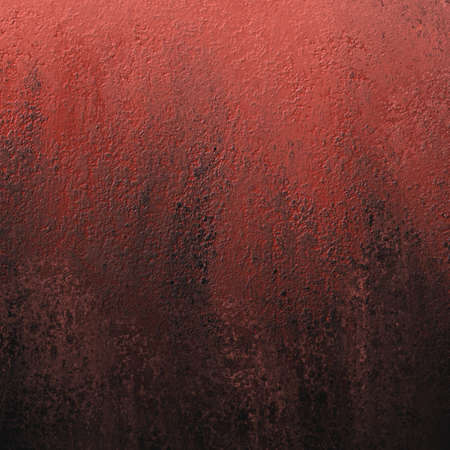 black rough textured grunge on old red background in messy dirty border design Stock Photo
