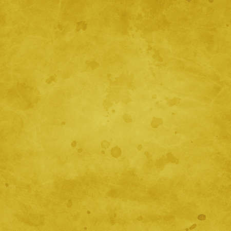 old yellow background design with vintage grunge texture and paint stain and spatter drops in elegant but distressed paper illustration design Standard-Bild - 116801135