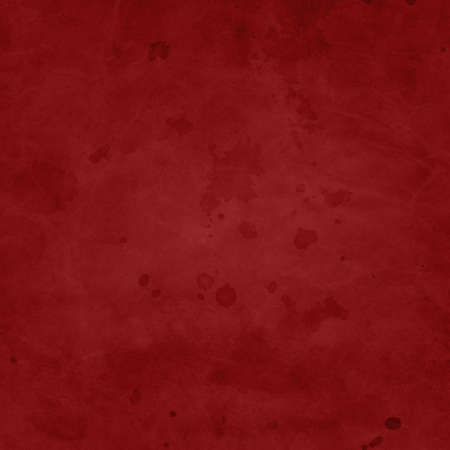 Red background with dark watercolor paint spatter texture with drips and drops and vintage grunge stain design