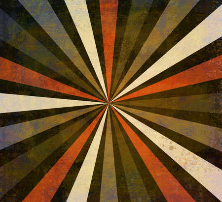 retro starburst or sunburst background pattern with a vintage autumn color palette of orange red and gray in a radial striped design