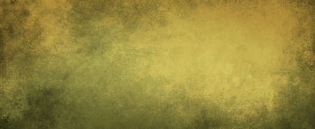 old yellow background with faded gray green grunge or peeling paint texture, old elegant distressed and worn background design