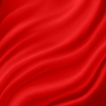 elegant luxury red background with wavy draped folds of cloth, smooth silk texture with wrinkles and creases in flowing fabric