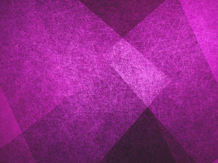 abstract background, layers of intersecting angles, rectangles and squares floating in random pattern, transparent with intricate texture, purple background Stock Photo