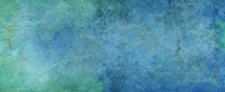 Old grunge design background with lots of texture on a faded green and blue painted shabby wall