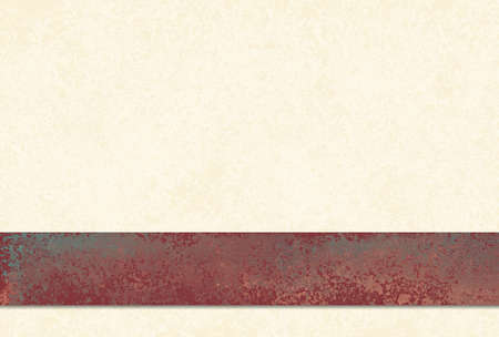 old off white or yellowed background with large rust red layered stripe on border and vintage grunge texture