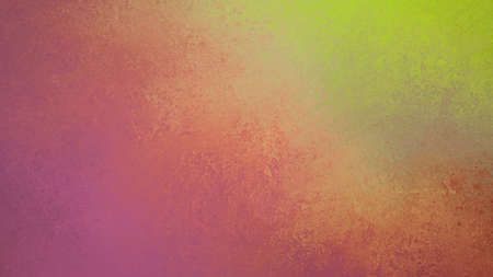 Fondo colorido abstracto con viejo diseño de pintura manchada y esponjada, colores violeta rosa verde y amarillo