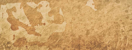 old coffee or tea stained paper background illustration with texture and grunge, vintage or ancient parchment design