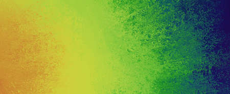 bold background design with orange yellow green and blue sponged paint texture in graphic art layout, creative fun and bright color abstract background