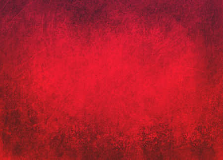 Red background with black grunge borders. Rich texture and Christmas color, elegant old background design with copyspace.
