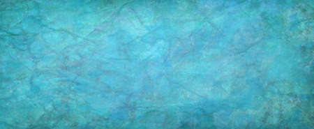 Blue green background texture design, old blue creased and wrinkled paper with damaged vintage grunge pattern