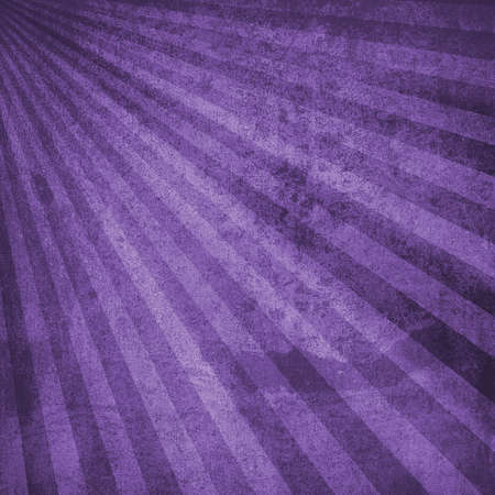 Old vintage background with grainy texture and grunge, black and purple retro sunburst in radial striped design that is worn and distressed, antique paper backdrop illustration