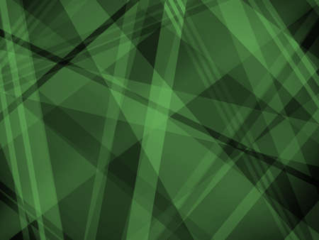 Abstract black and green background with diagonal stripe layers and shapes in light and dark white and gray colors in abstract modern trendy design.