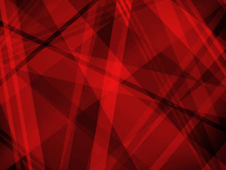Abstract red and black background with diagonal stripe layers and shapes in light and dark colors in abstract modern trendy design.