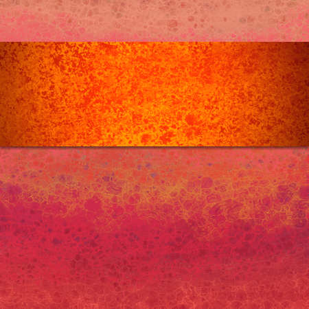 Bold colorful abstract background design with lots of texture, orange and gold ribbon or stripe on pink and purple marbled bubble texture pattern, artsy different background layout