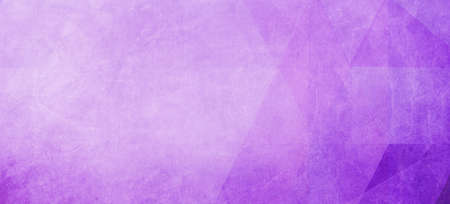 abstract purple background with faint shapes of triangles and low poly blocks and triangle pattern and soft white grunge border texture