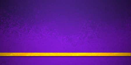 Purple textured background with thin gold ribbon stripe, elegant luxury design