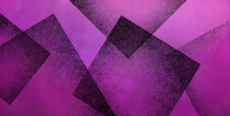 Abstract purple background with black geometric square shapes layered in random pattern, elegant dark purple and black wallpaper design that is modern and textured