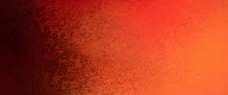 hot red orange background color with messy black sponged border design with lots of grunge and texture Imagens